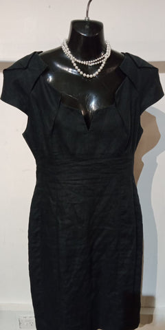 Vintage Covers Black Dress Womens Size 10