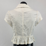 TEMPT Ivory Short Sleeve Jacket Womens Size 10