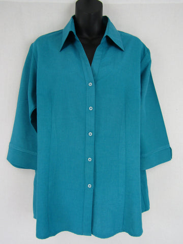 BIZ COLLECTION Blue Button Down Shirt Womens Size 16