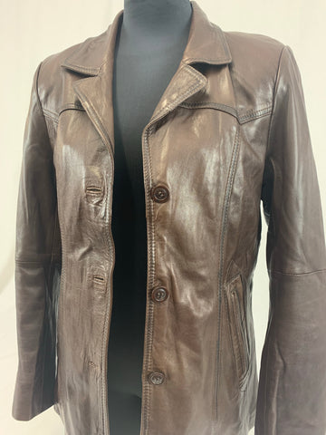 SAKI Womens leather Jacket Size 36