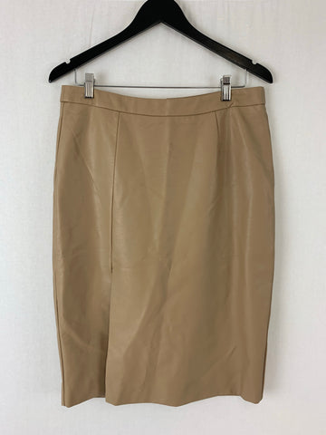 "AMELIUS the Label Vegan ""Leather"" Caramel Skirt Womens Size XL RRP $79.95"