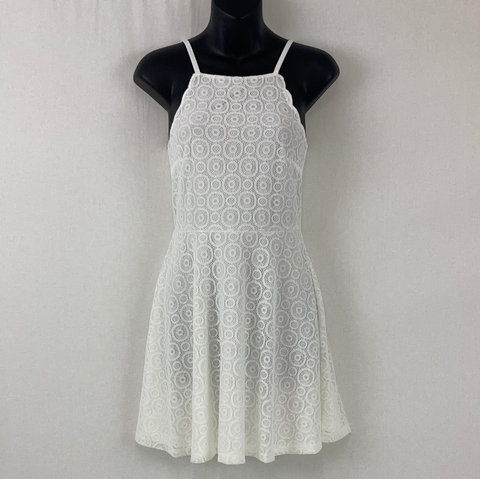 H & M White Sun Dress Womens Size S