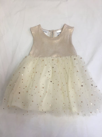 Gold Sparkly Dress Girls Size 0