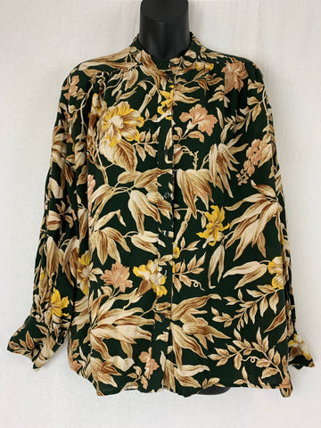 H&M Floral Top Womens Size 8