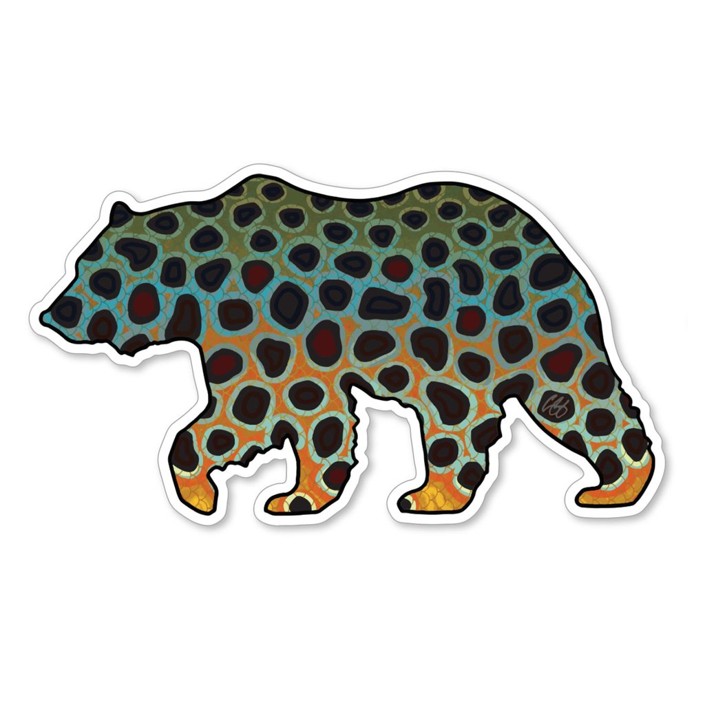 Bear Brown Trout Decal
