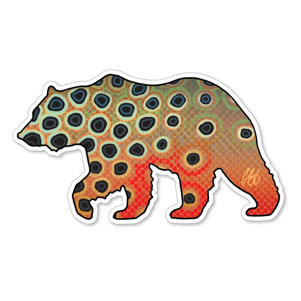Bear Cutthroat Trout Decal