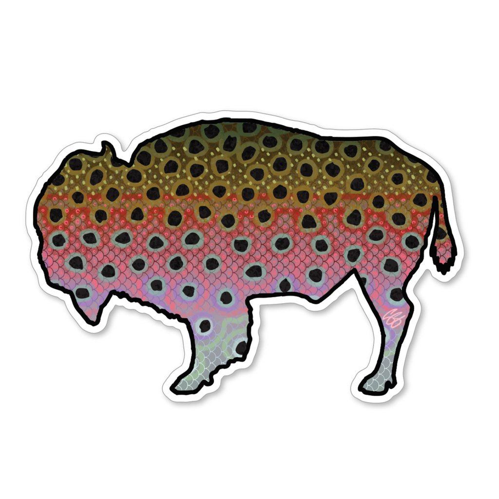 Bison Rainbow Trout Decal