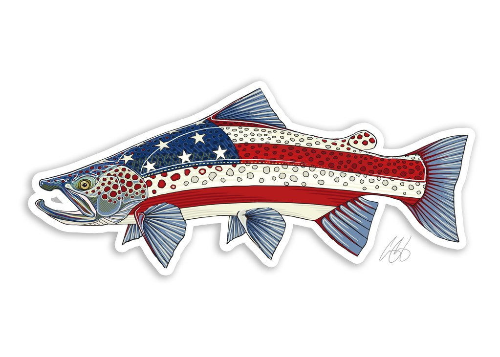 USA Brown Trout Decal