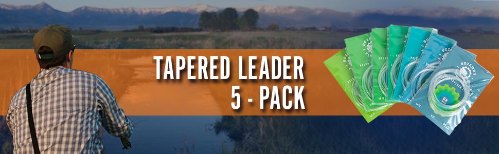 12' - Tapered Leaders - 5 Pack