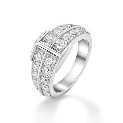 Signature Large Ring in 18ct White Gold - Hamilton & Inches