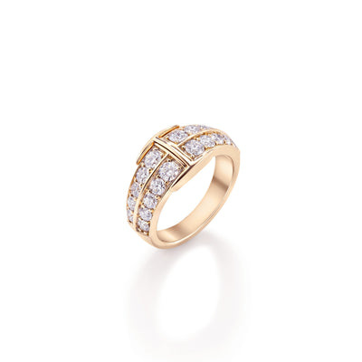 Signature Large Ring in 18ct Rose Gold - Hamilton & Inches