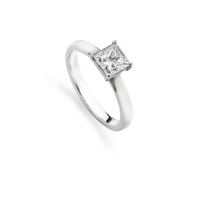 1.02 ct Princess-Cut Diamond Engagement Ring in Platinum-Hamilton & Inches
