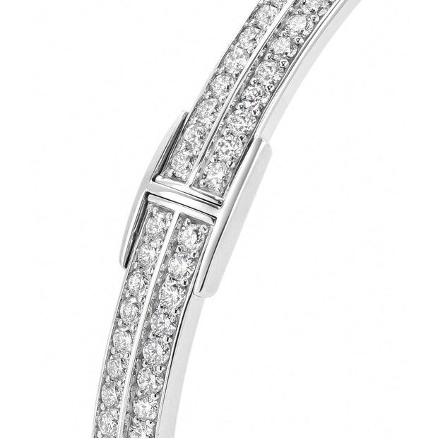 Signature Bangle in 18ct White Gold-Hamilton & Inches