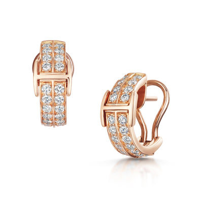 Signature Huggy Earrings In 18ct Rose Gold-H & I-Hamilton & Inches