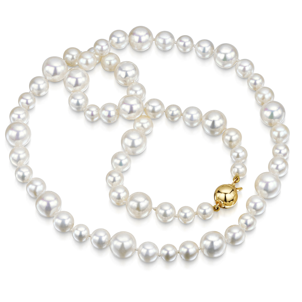 Cultured Pearl Necklace with 18ct Yellow Gold Clasp-H & I-Hamilton & Inches