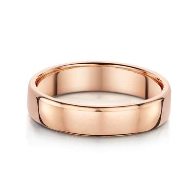 5mm Court Style Wedding Ring in 18ct Rose Gold - Hamilton & Inches