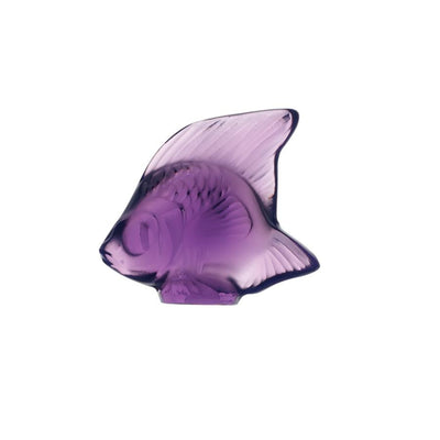 Lalique Aquatic Poisson - Purple - Hamilton & Inches