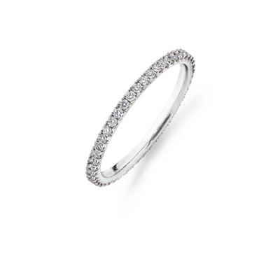 48 Stone Full Hoop Diamond Wedding Ring