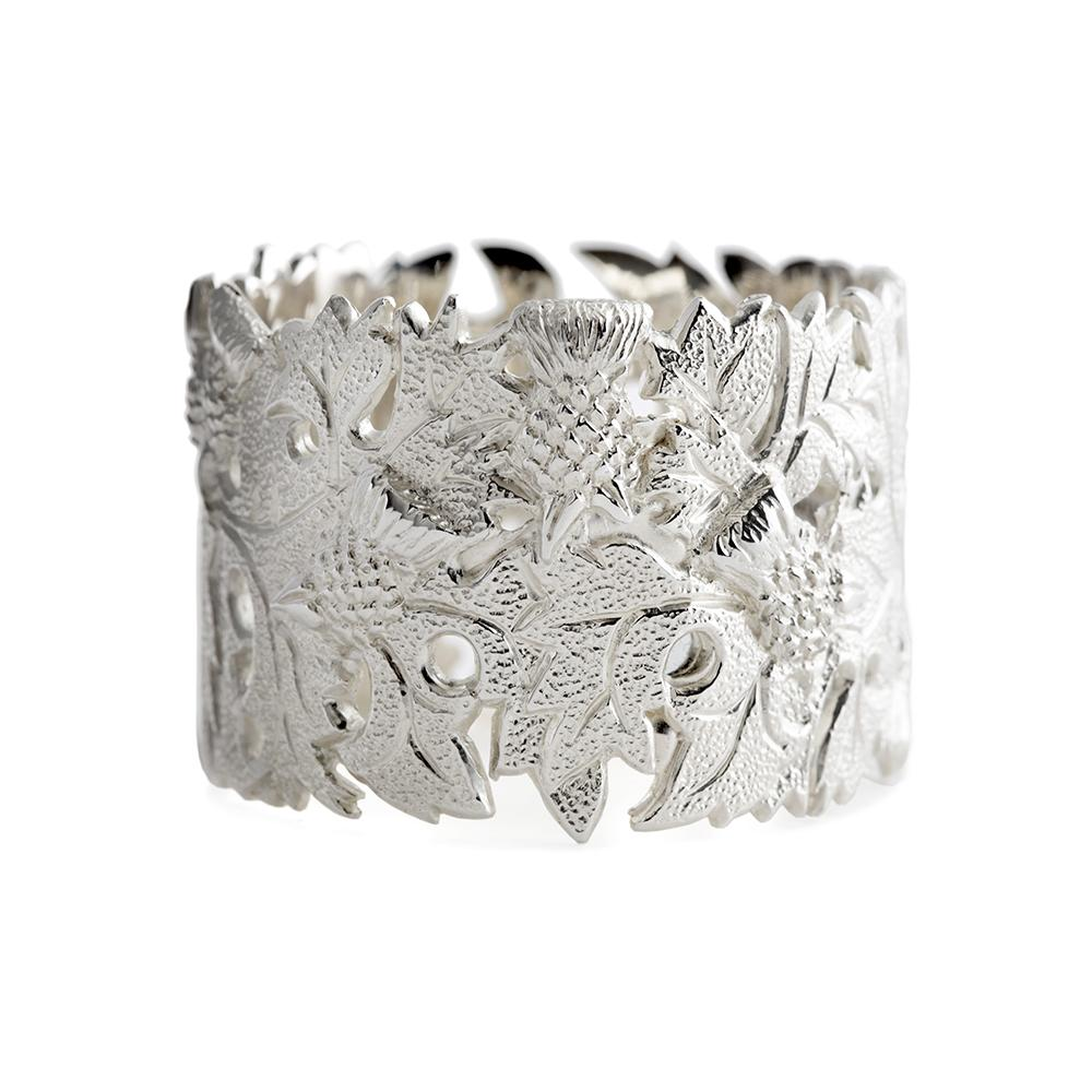 Sterling Silver Thistle Napkin Ring - Hamilton & Inches