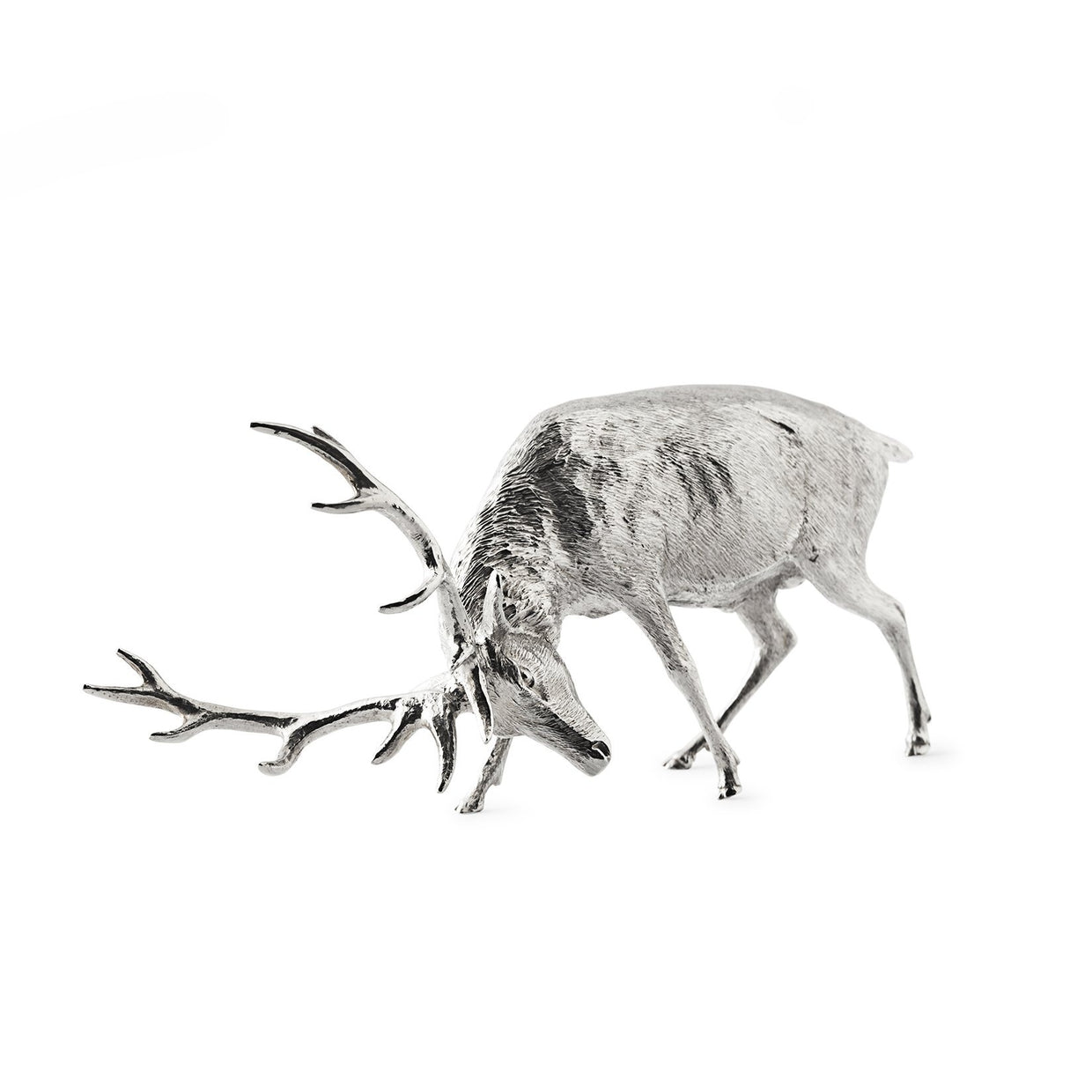 Sterling Silver Model of Fighting Stag-Hamilton & Inches