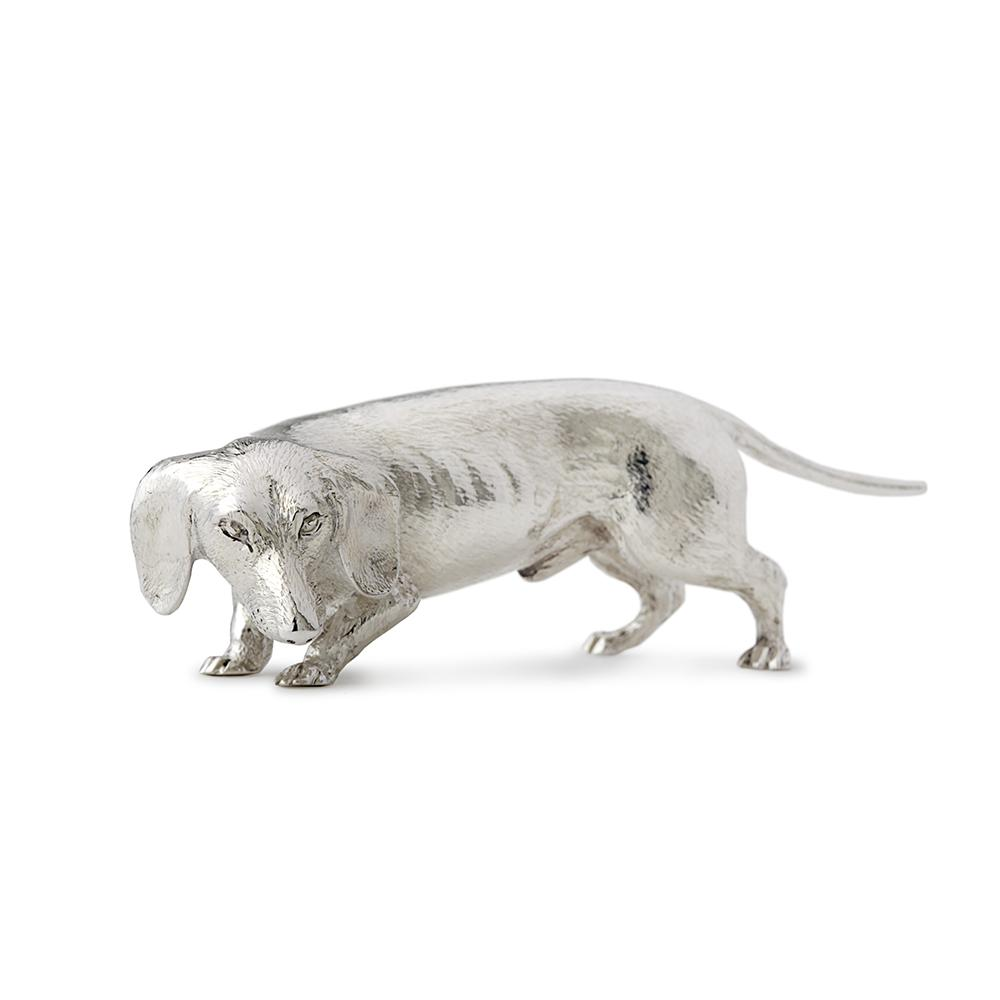 Sterling Silver Dachshund walking/sniffing - Hamilton & Inches