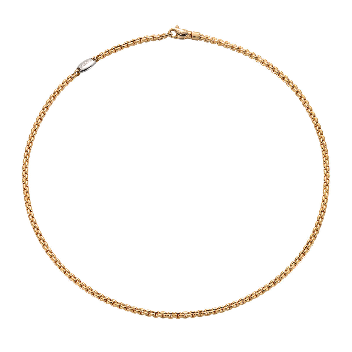 Fope Eka Tiny Necklace in 18ct Yellow Gold - Hamilton & Inches