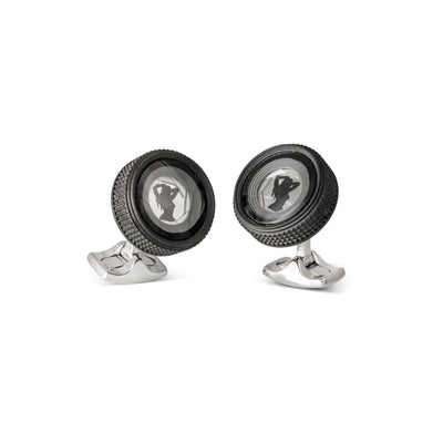 Camera Lens Bar Cufflinks-H & I-Hamilton & Inches
