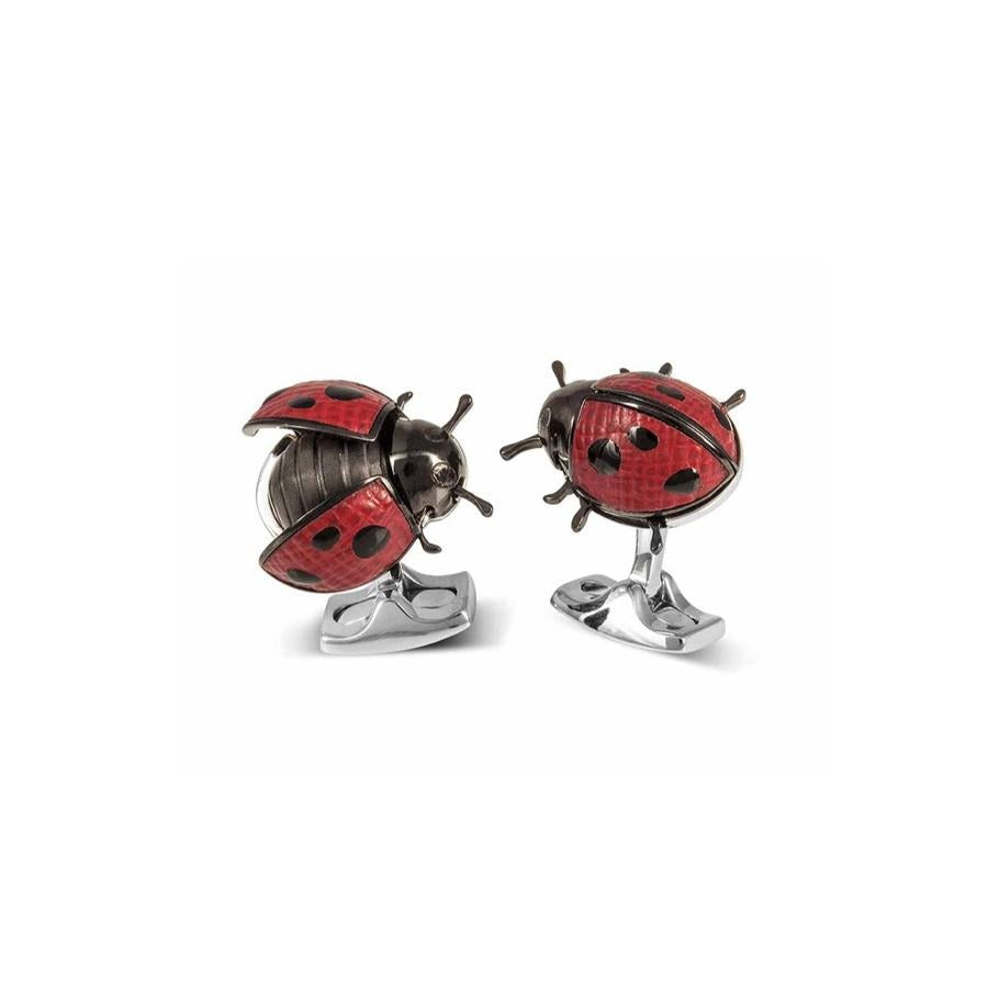 Ladybird Bar Cufflinks-Hamilton & Inches