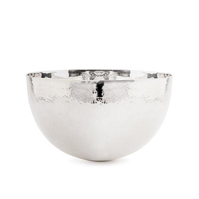 Sterling Silver Large Hammered Tumble Bowl - Hamilton & Inches