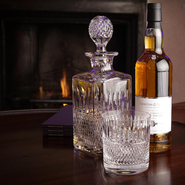 Cumbria Crystal Whisky Tumbler and Decanter
