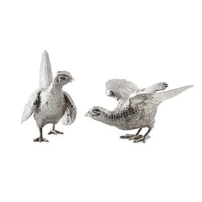 Sterling Silver Pheasants with Spread Wings - Hamilton & Inches