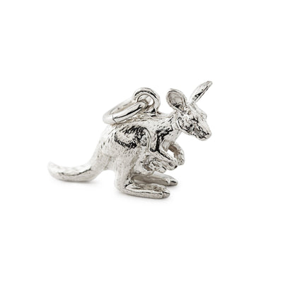 Kangaroo Charm in Sterling Silver-Hamilton & Inches