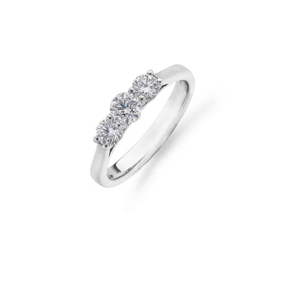 Round Brilliant-Cut 3-Stone Diamond Ring-Hamilton & Inches
