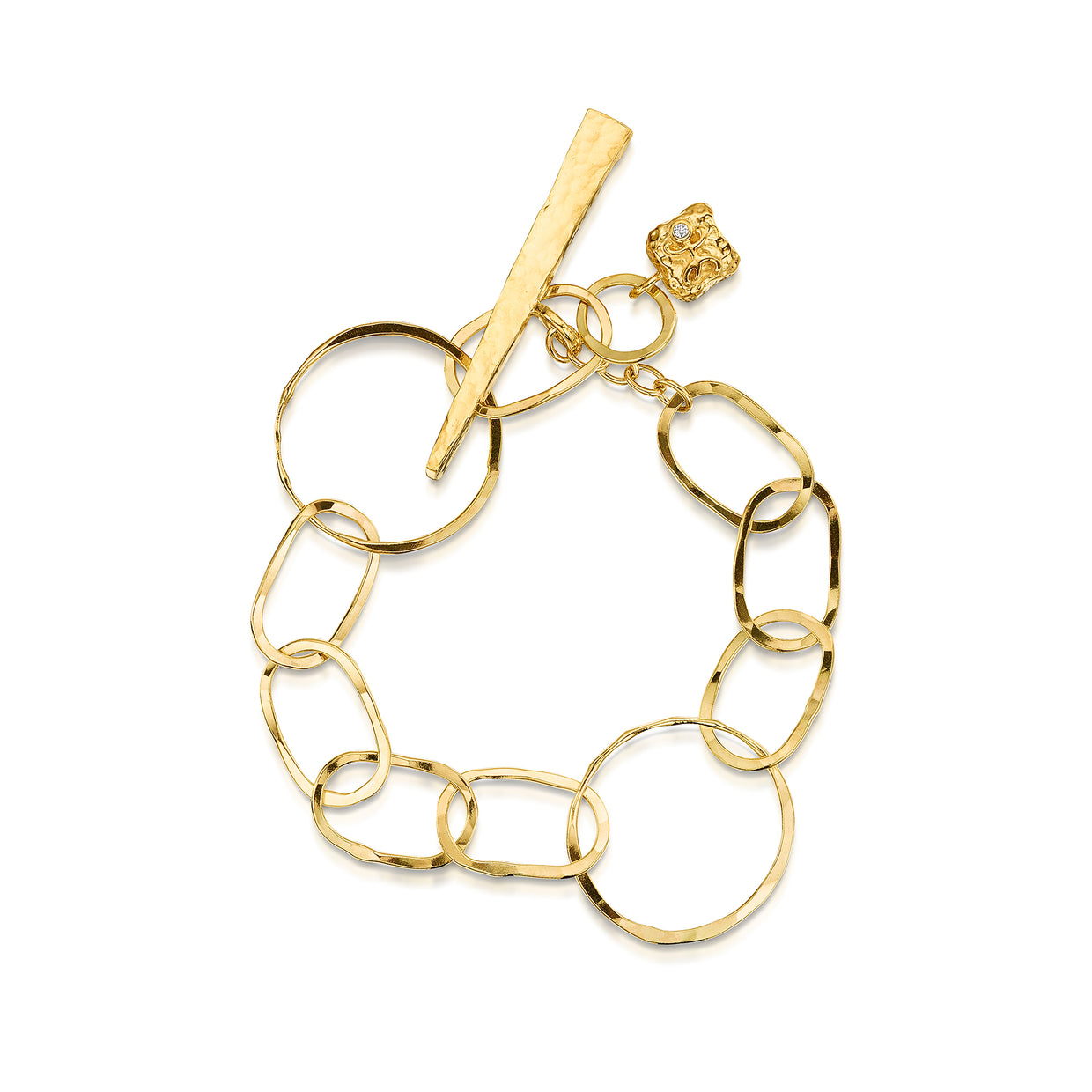 Hamilton & Inches Oval Link Bracelet in 9ct Yellow Gold - Hamilton & Inches