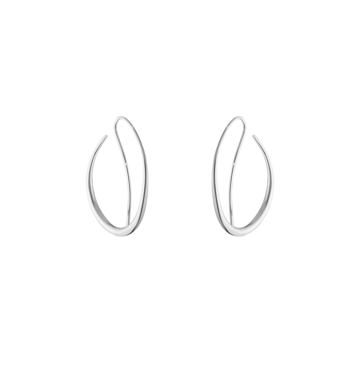Georg Jensen Offspring Earhoops in Sterling Silver - Hamilton & Inches