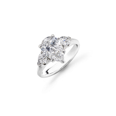 Pear-Shaped 3-Stone Diamond Ring-Hamilton & Inches