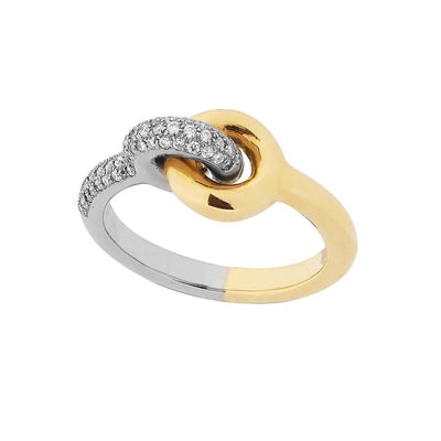 Charlotte Chesnais Maxi Twin Pave Ring - Hamilton & Inches