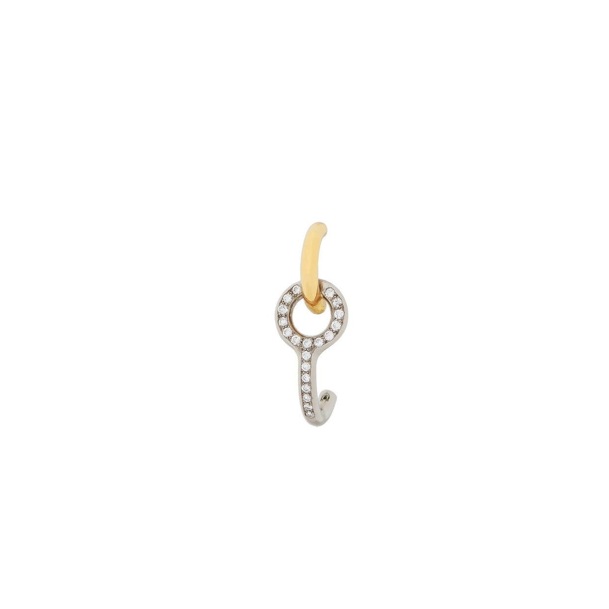 Charlotte Chasnais Twin Pave Diamond Earring - Single-Hamilton & Inches