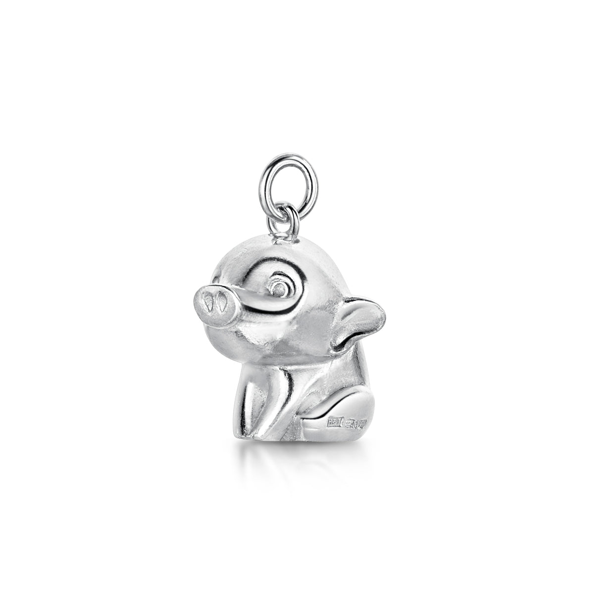 Sterling Silver Pig Charm-Hamilton & Inches
