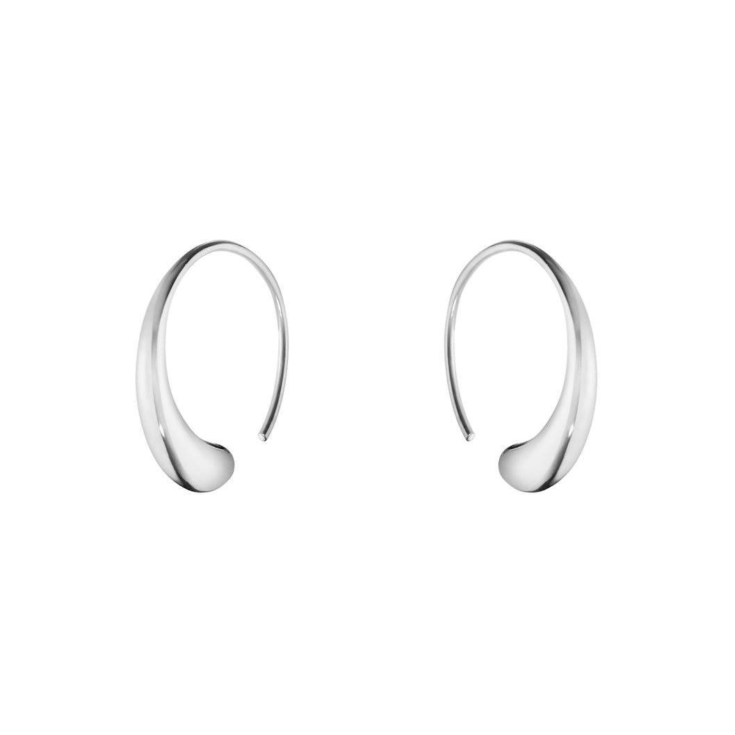 Georg Jensen Mercy Large Earhoops in Sterling Silver - Hamilton & Inches