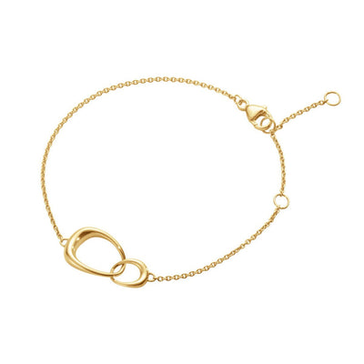 Georg Jensen Offspring Bracelet in 18ct Yellow Gold - Hamilton & Inches
