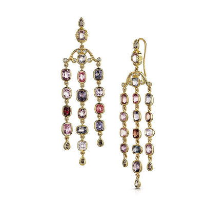 Scottish Gold Collection: Watercolour Spinel Earrings - Hamilton & Inches