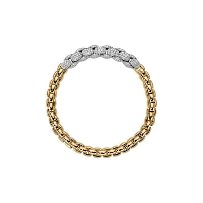 FOPE DIAMOND MIALUCE BRACELET WITH DIAMONDS IN 18CT YELLOW GOLD - Hamilton & Inches