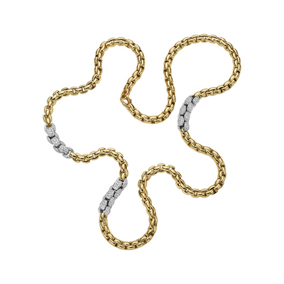 FOPE Diamond Mialuce Necklace in 18ct Yellow Gold - Hamilton & Inches