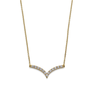 Diamond Necklace in 18ct Yellow Gold - Hamilton & Inches