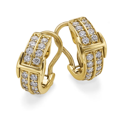 Signature Huggy Earrings in 18ct Yellow Gold-Hamilton & Inches