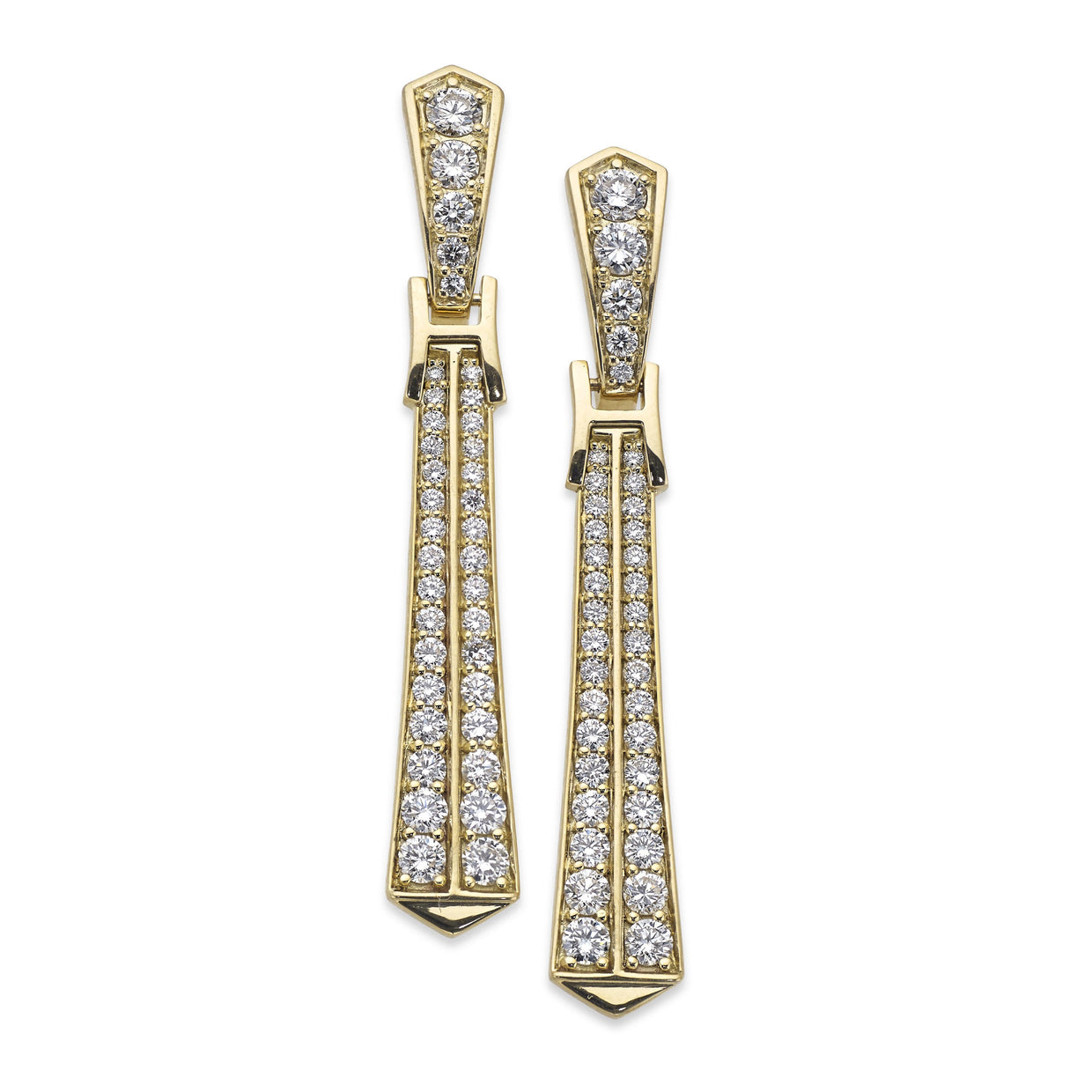 Signature Drop Earrings in 18ct Yellow Gold-Hamilton & Inches