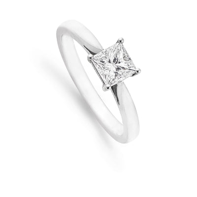 Princess-Cut Diamond Platinum Engagement Ring-Hamilton & Inches