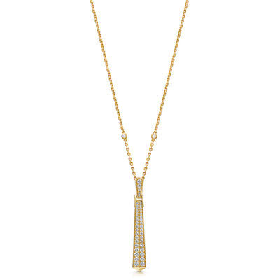 Signature Diamond Pendant In 18ct Yellow Gold-Hamilton & Inches