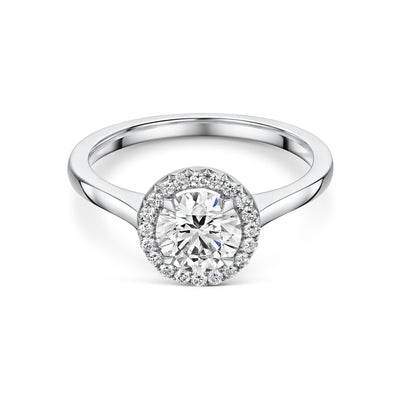 Diamond Cluster Engagement Ring-Hamilton & Inches